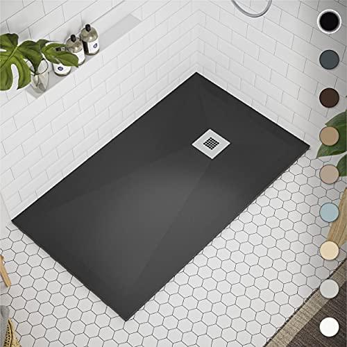 Crocket Plato de Ducha de Resina 80 x 150 Allier - Textura Liso y...