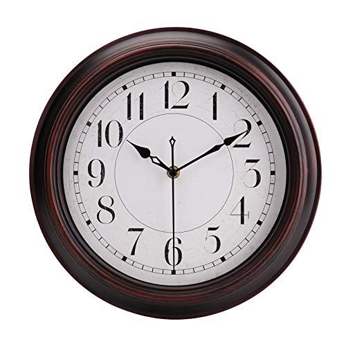 Reloj de pared redondo, de estilo clásico retro, de cuarzo, reloj...