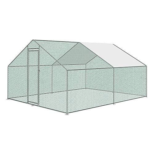 Froadp Grande Jaula Gallinero de Exterior de Acero Galvanizado 3x4x2m...