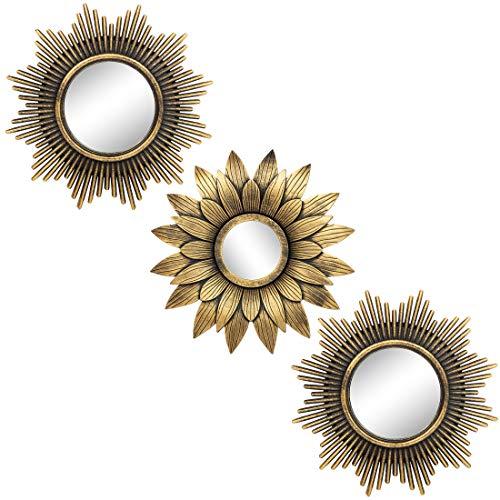 Espejos dorados para decoración de pared Set de 3 – Gran...