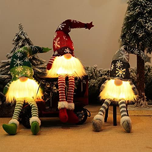 Gnomos Navidad, Elfo Navidad Muñeco Luces, Navidad Decoración Casa...