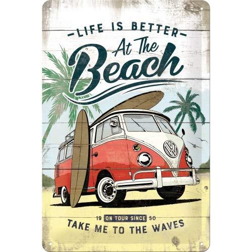 Nostalgic-Art Cartel de Chapa Retro VW – Bulli T1 – Beach – Idea...