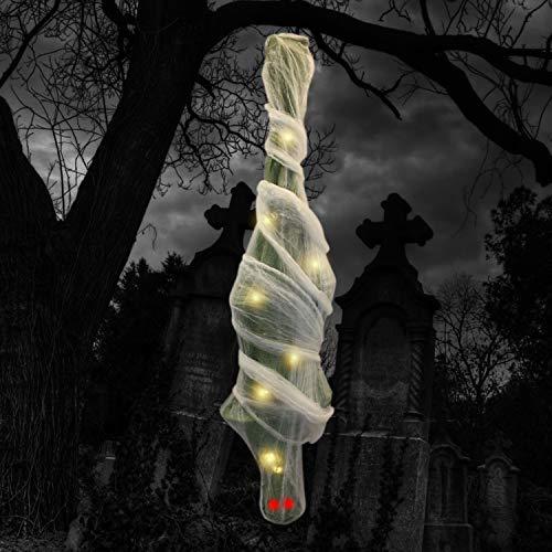 180,3 cm Halloween Momia Cocoon cadáver con ojos LED y cuerpo...