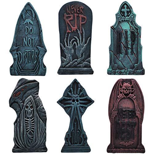 43 cm Lápida Sepulcral de Espuma para Halloween (6 Piezas), Lápida...