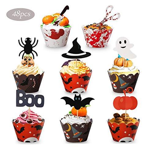 Decoración para cupcakes de Halloween, decoración de Halloween, muñeco de araña, murciélago, decoración de Halloween