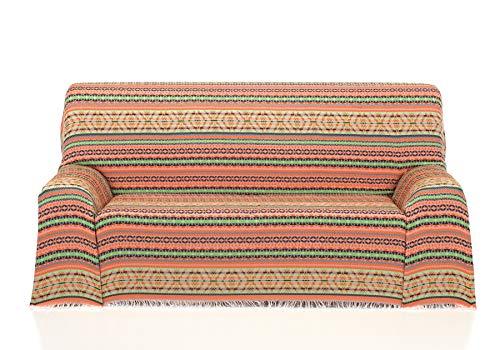 Cardenal Textil Azteca Foulard Multiusos, Naranja, 230x290 cm