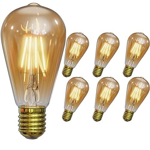 LED Edison Vintage Bombilla, massway E27 ST64 LED Retro Edison...