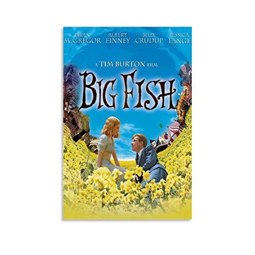 LXYQG Póster vintage retro de la película, Big Fish Canvas Art Poster y Wall Art Impresión moderna para dormitorio familiar regalo estético Decoración carteles 30 x 45 cm