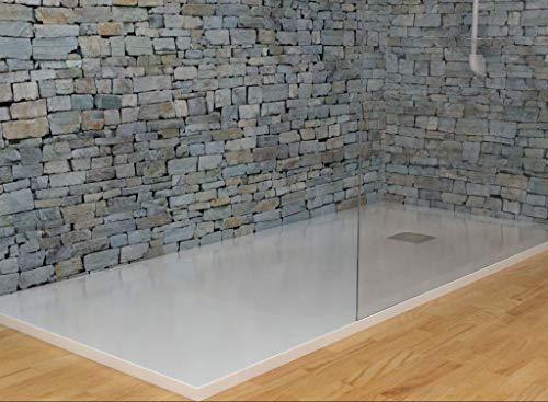 MASAL TECH DESING - Plato de ducha, textura PIZARRA BLANCO 70x150 cm,...