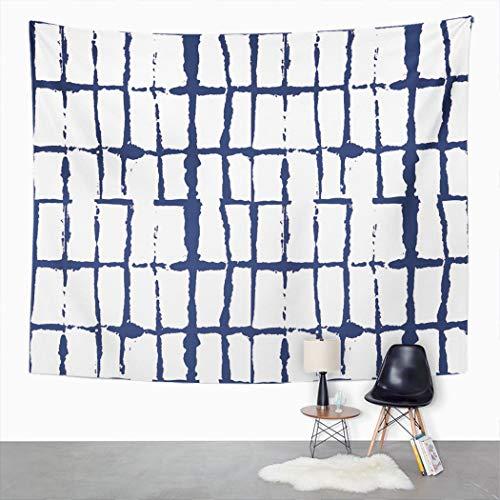 Y·JIANG Tapiz japonés, Wabi Sabi Tie Dye Ikat tradicional asiático Boho Home Dormitorio Decorativo Grande Tapices de pared ancha para sala de estar, dormitorio, 152,4 x 127 cm