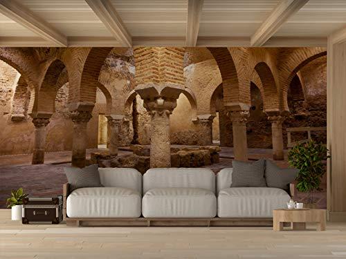Oedim Vinilo para Pared Baños Árabes de Jaén   Fotomural para Paredes   Mural   Vinilo Decorativo   600 x 300 cm   Decoración comedores, Salones, Habitaciones