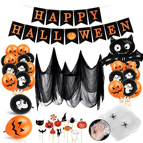 Bluelves Decoración de Fiesta de Halloween Set, Globos de decoración...