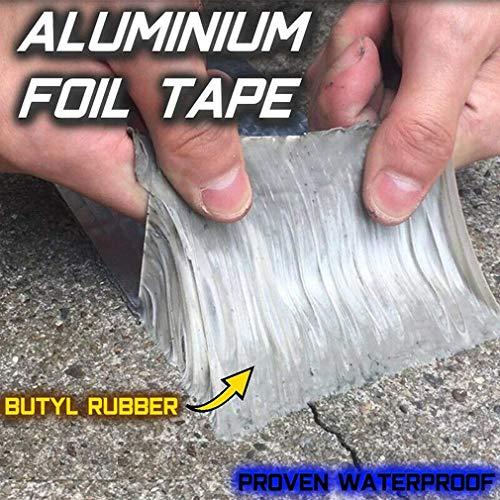 Cinta de aluminio y caucho butílico superimpermeable, para goteras,...