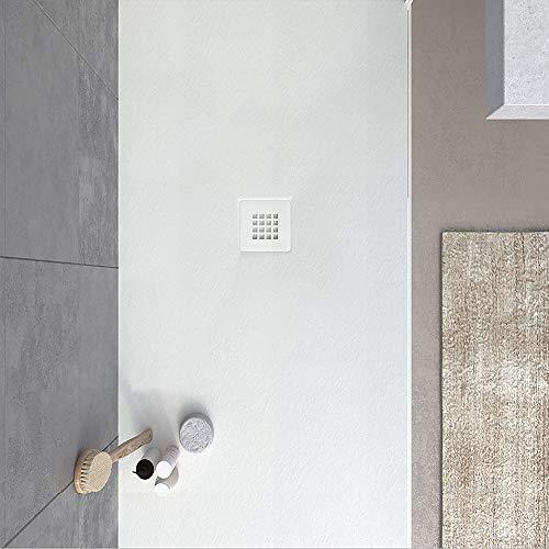 VAROBATH -Plato de ducha de Resina, medida GRANDE - Color Blanco...
