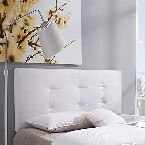 Cabecero tapizado Carla 140X60 cm Blanco, para Cama de 135 cm,...