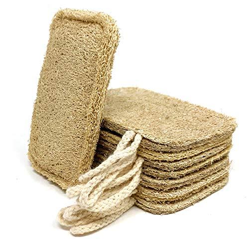 Esponja natural lavavajillas natural (paquete de 8)   estropajo...