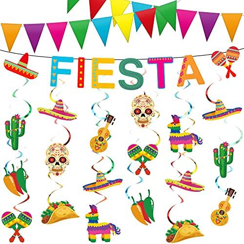 23 Piezas Decoraciones de Fiesta Mexicana Cinco de Mayo Juegos de...