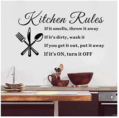 Cocina comedor arte etiqueta de la pared cocina Kitshen Rutes tatuajes...