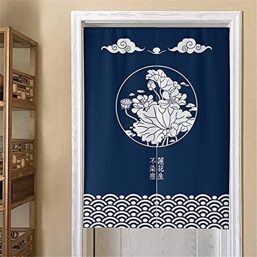 Hiseng Cortina de Puerta Azul Japonesa Noren para Decoración Hogar,...