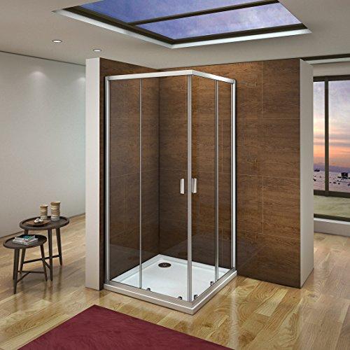 Cabina de ducha mampara de ducha corredera puerta 6mm Easyclean...