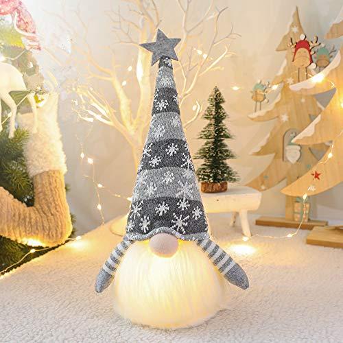 Micacorn Gnomo Navideño Iluminado Papá Noel, Decoración Navideña...