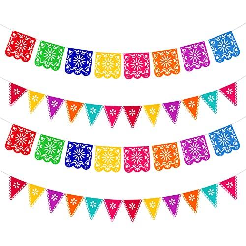 Qpout 4 piezas Banners del Día de los Muertos, colorida Fiesta...