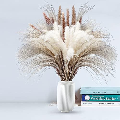 80 pampas secas naturales de hierba, flores secas, arreglo para...