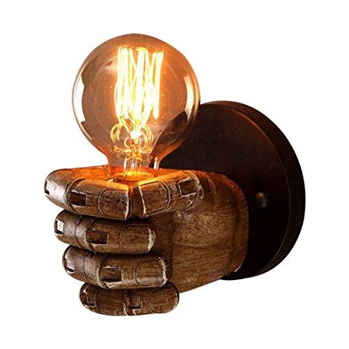 Lenere Lámpara de pared retro de resina con diseño de mano derecha...