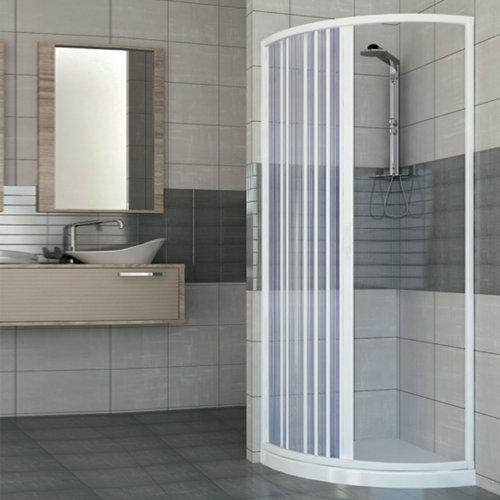 Box ducha ad una puerta apertura lateral semicircular. Producto de PVC...