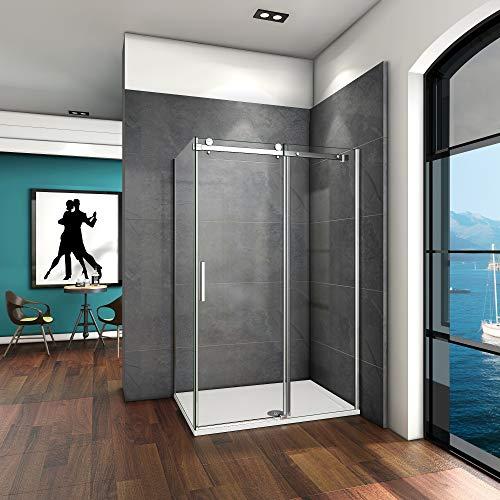 140x80x195cm Mamparas de ducha cabina de ducha 6mm vidrio templado de...