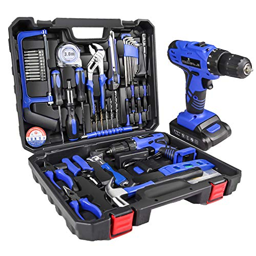 Letton Kit de herramientas con taladro inalámbrico de 21V, juego de...