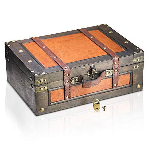Brynnberg Caja de Madera Marco 38x27x14cm - Cofre del Tesoro Pirata de...