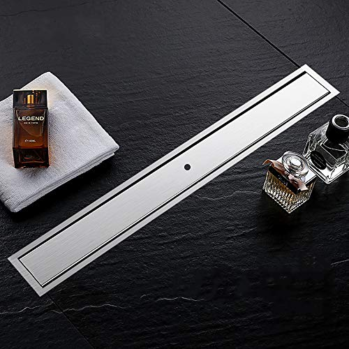 Signstek Drenaje lineal de ducha - 60 cm, inserto de baldosas, acero...