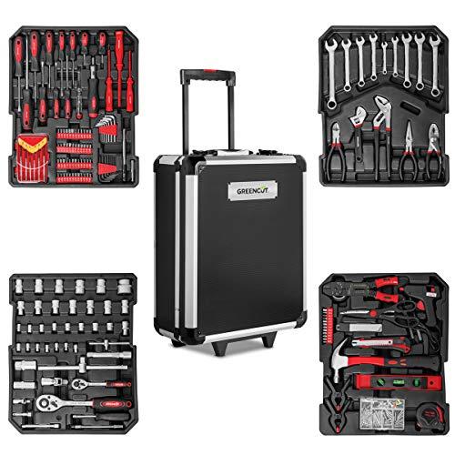 GREENCUT TOOLS819 - Set de herramientas con 819 piezas, Maleta trolley...