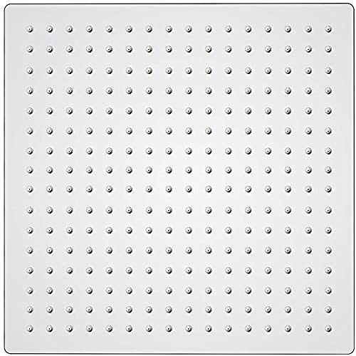 GRIFEMA - Rociador de ducha, alcachofa lluvia cuadrado, 30 x 30 cm,...