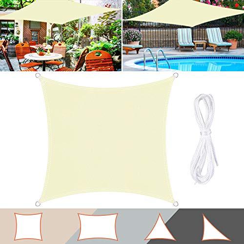 TedGem Vela de Sombra, Vela de Sombra Rectangular, protección Rayos UV, Toldo Resistente e Lmpermeable, para Patio, Exteriores, Jardín (3X3M)