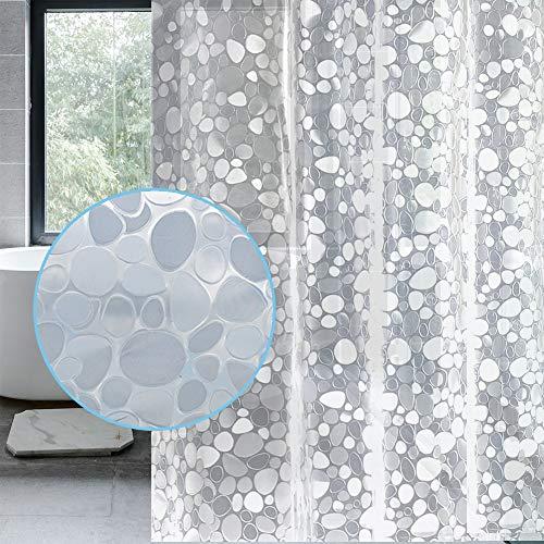 LEMON CLOUD Cortina Baño, Impermeable, Antimoho, Antibacteriano (3D...