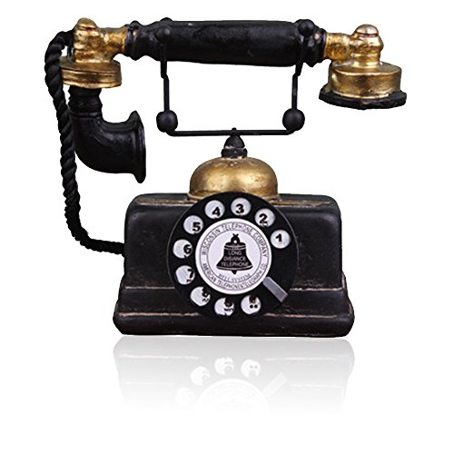 Teléfono antiguo creativo retro decorativo teléfono resina rotatorio...