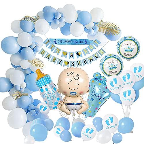 weeyin Baby Shower Decoracion Niño, Azul Globo Nacido Bebé Adorno...