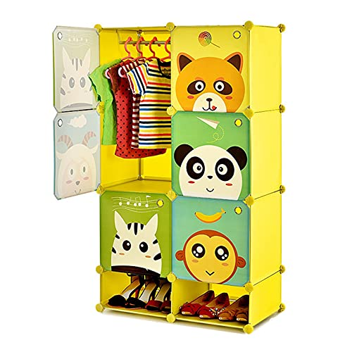 armarios de tela Lindo infantil Armario portátil armario ropero Cubo...