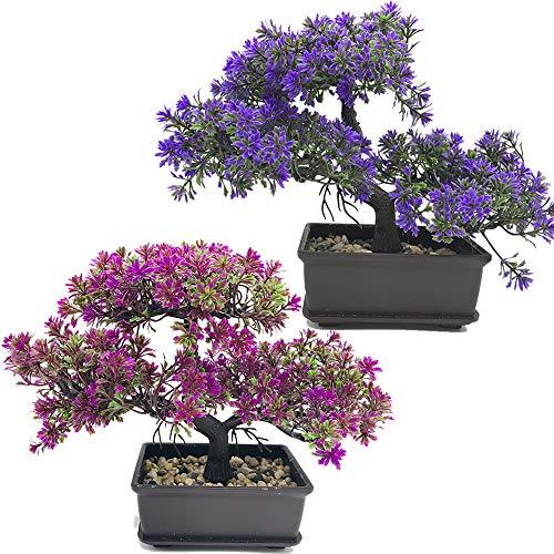 Fycooler Bonsai Artificial Planta falsa en maceta Plantas Artificiales...