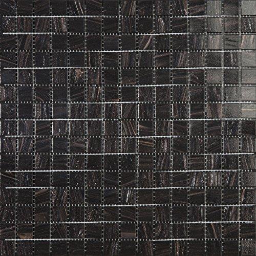 Mosaico de Vidrio en Malla DEC-74291AXU011, Negro, 4 mm, 32.7 x 32.7...