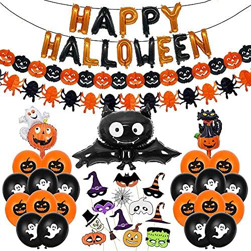 Bluelves Halloween Globos Decoración Set, Halloween Feliz...