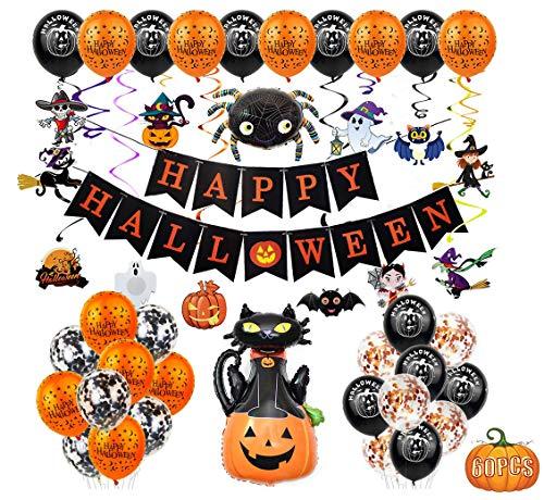 Fontee® 60 piezas halloween decoracion accesorios, Happy Halloween...