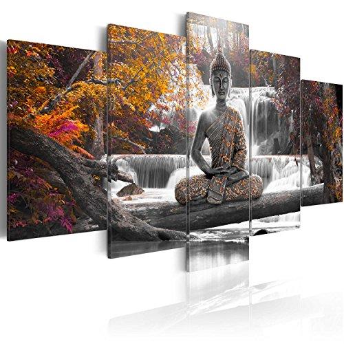 murando Cuadro en Lienzo Buda 200x100 cm Impresión de 5 Piezas...