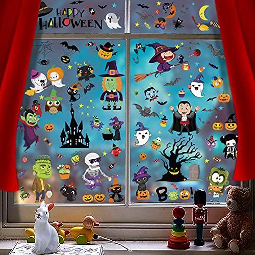 Myir JUN Calcomanías para ventana de Halloween, pegatinas de ventana...