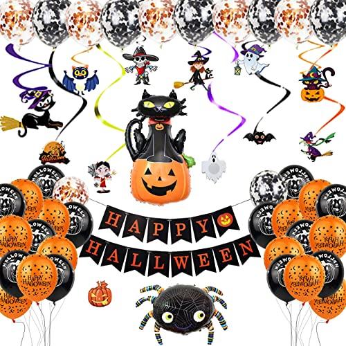 49 Piezas Halloween Decoracion Globos,DUTISON Halloween Decoracion...