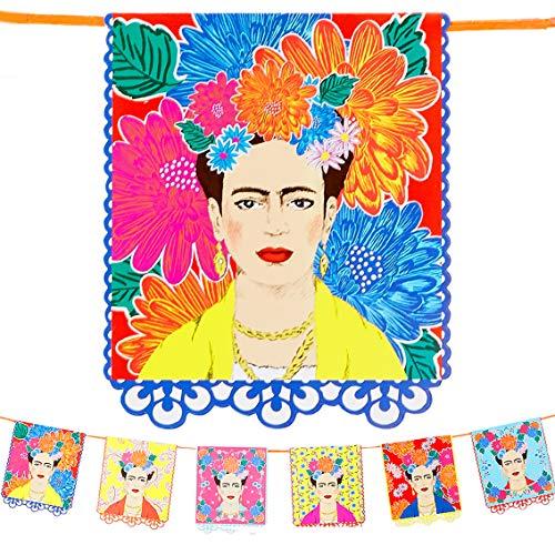 Talking Tables- Guirnalda con Estampado Kahlo-3m Brillantes para...