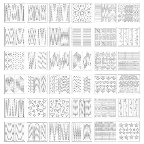 1275 Piezas 49 Diseños de Plantillas de Arte de Uñas Pegatinas de...