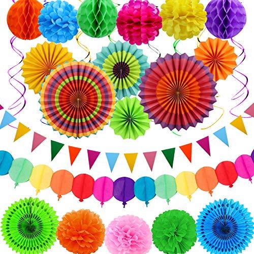 aovowog Decoración Fiesta Cumpleaños Carnaval Mexicana Adornos para...
